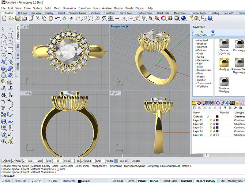 Rhino3d for Jewelry Design Course